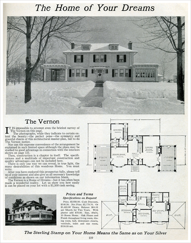 Advertisement for a kit home